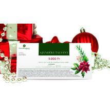 * Karácsonyi  ajándékutalvány OTTHONI NYOMTATÁSSAL 5.000 Ft + AJÁNDÉK 1.250 Ft-os utalvány