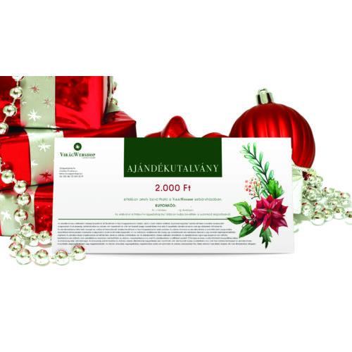 Karácsonyi  ajándékutalvány OTTHONI NYOMTATÁSSAL 2.000 Ft